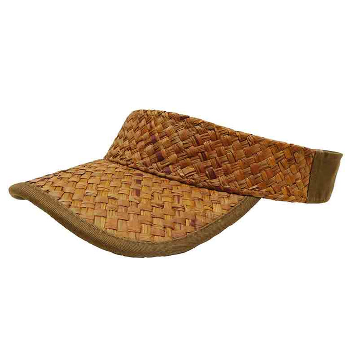 Woven Raffia Tennis - Golf Sun Visor for Men - DPC Global Trends