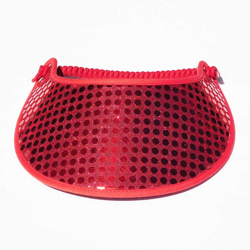 Red Glitz Fabric-Foam Sun Visor