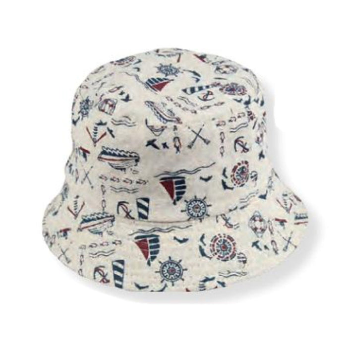 Small Heads Reversible Nautical Cotton Bucket Hat - Jeanne Simmons Hats