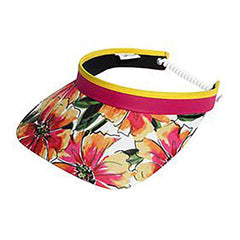 Floral Golf Sun Visor with Coil Lace by GloveIt