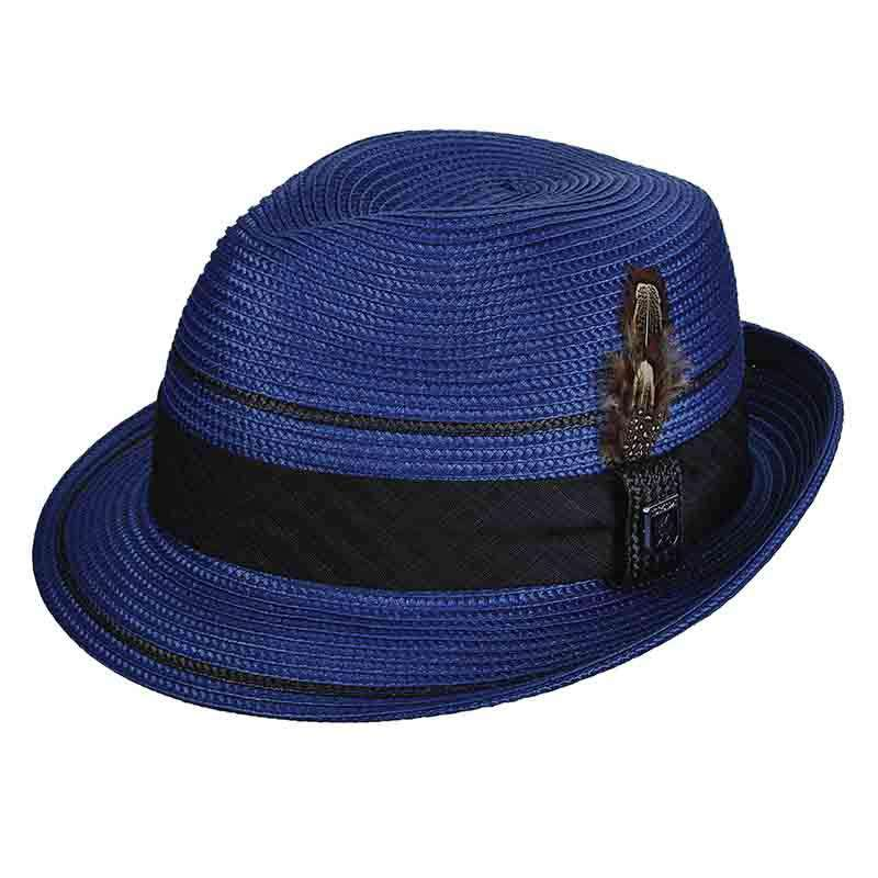 Stacy Adams Pinch Front Fedora - Royal Blue