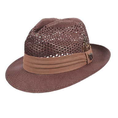 Stacy Adams Vented Toyo Fedora - SetarTrading Hats
