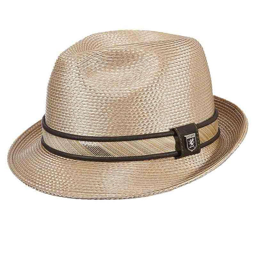 Shiny Polybraid Porkpie Fedora - Stacy Adams