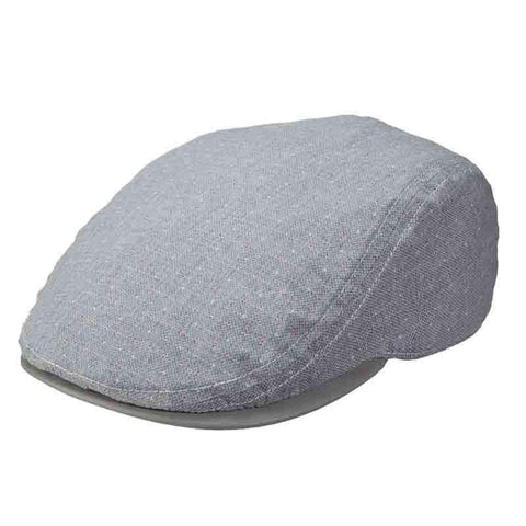 Stacy Adams Flat Cap Leatherette Under Bill - Grey