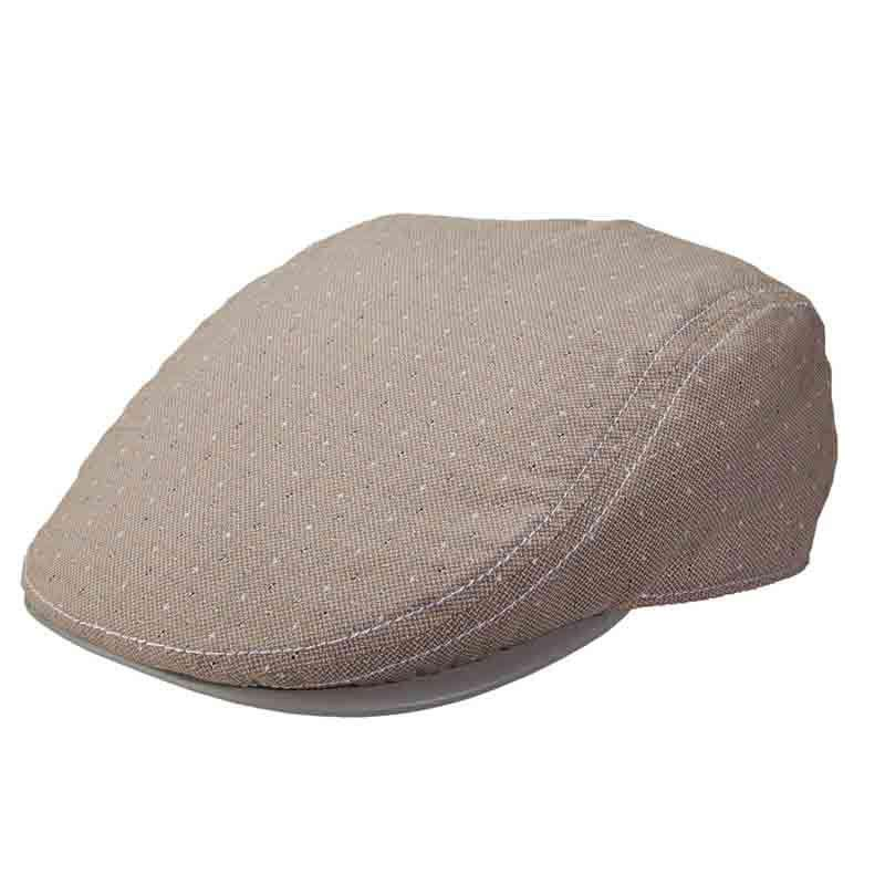 Stacy Adams Flat Cap Leatherette Under Bill - Tan