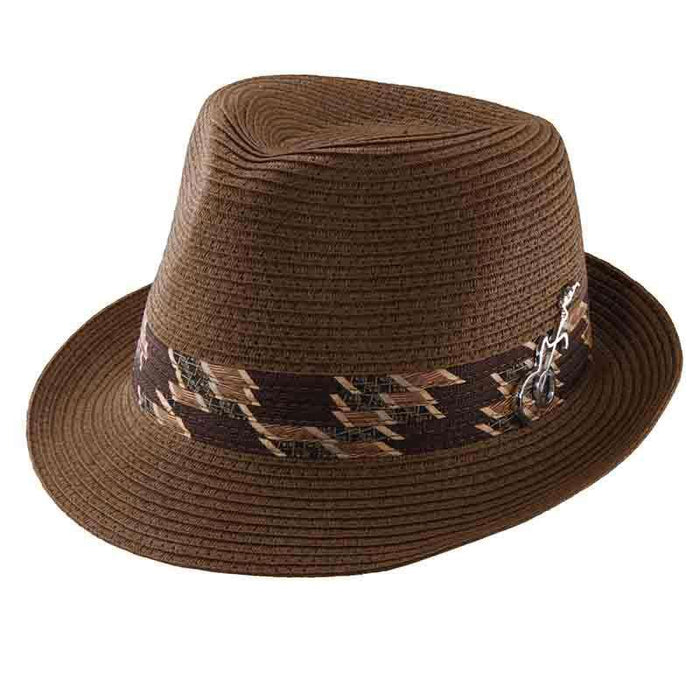 5afeee19e9d7 Memento Fedora with Guitar Pin by Carlos Santana — SetarTrading Hats