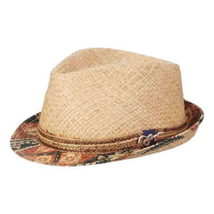 Seminole Raffia Fedora with Jute Band by Carlos Santana