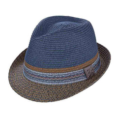 Bliss Fedora with Print Ribbon Band by Carlos Santana