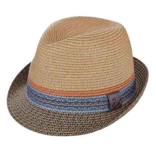 Bliss Fedora with Print Ribbon Band by Carlos Santana - SetarTrading Hats