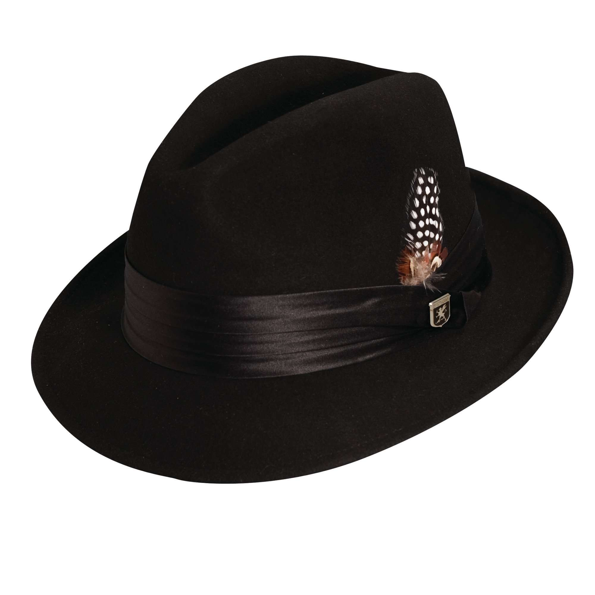 Stacy Adams Snap Brim Fedora - Black - SetarTrading Hats da61a3890387