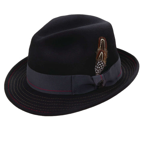 Stacy Adams Stitched Brim Classic Fedora