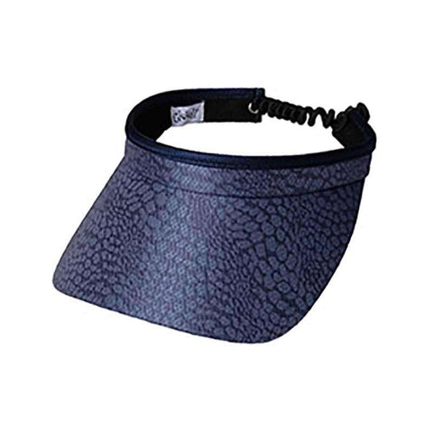 Chic Slate Golf Sun Visor with Coil Lace by GloveIt
