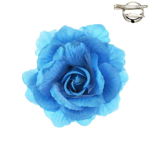 Silk Flower Fascinator-Brooch