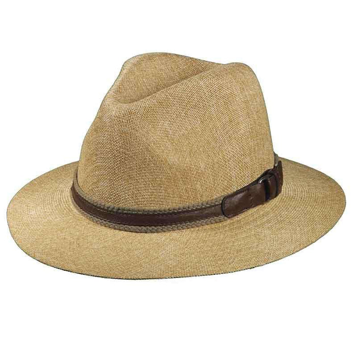 Matte Safari Hat with Web and Leather Band for Men by Stetson - SetarTrading Hats