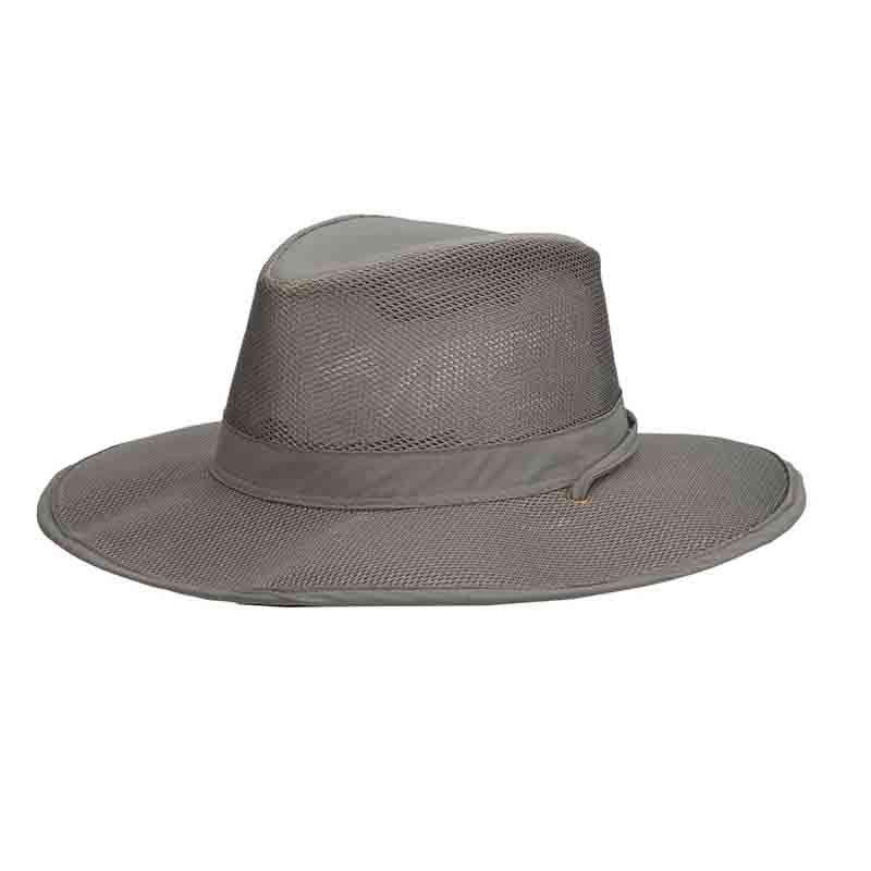 Stetson No Fly Zone Mesh Brim Safari Hat - Willow 77729bf11ad