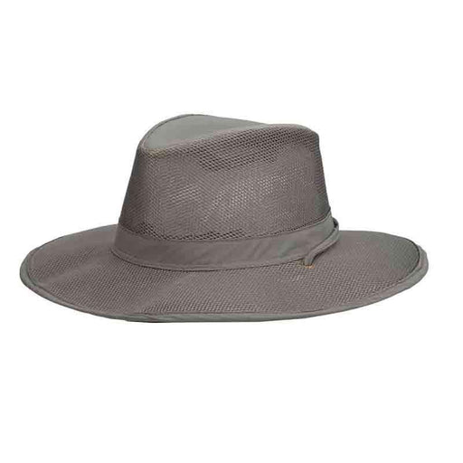 3ef7c77c61a423 Stetson No Fly Zone Mesh Brim Safari Hat - Willow — SetarTrading Hats