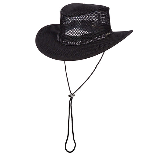 Stetson Mesh Outback Hat for Men - Black 2XL - SetarTrading Hats