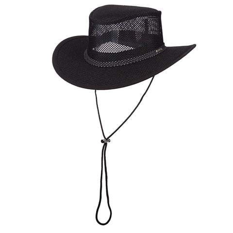 Stetson Mesh Outback Hat for Men - Black