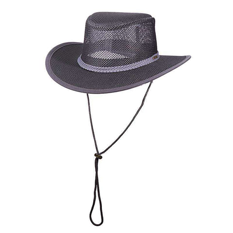 Stetson Mesh Outback Hat for Men - Charcoal