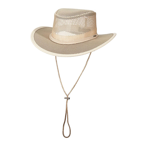 Stetson Mesh Outback Hat for Men - Clay