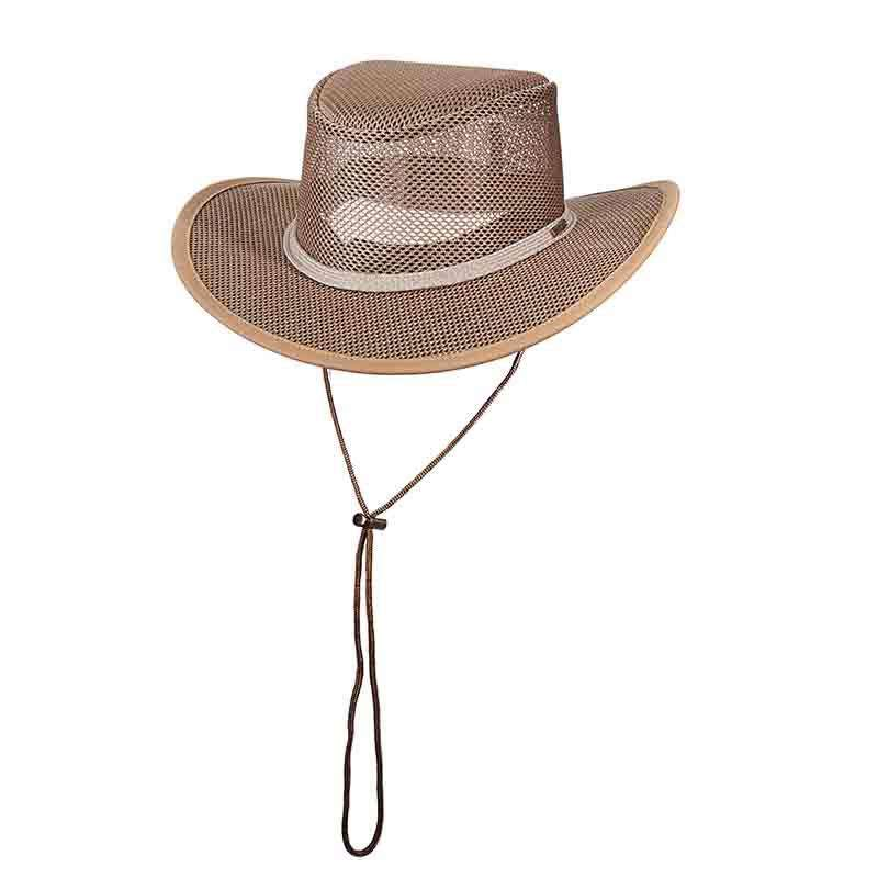 Stetson Mesh Outback Hat for Men - Mushroom