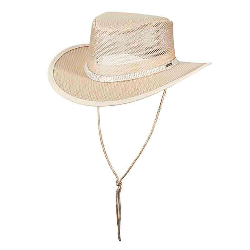 Stetson Mesh Outback Hat for Men up to XXL - Natural