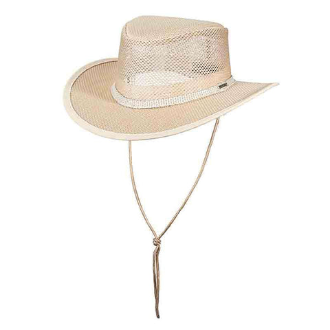 Stetson Mesh Outback Hat for Men - Natural