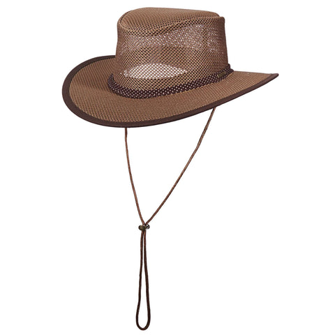 Stetson Mesh Outback Hat for Men - Walnut