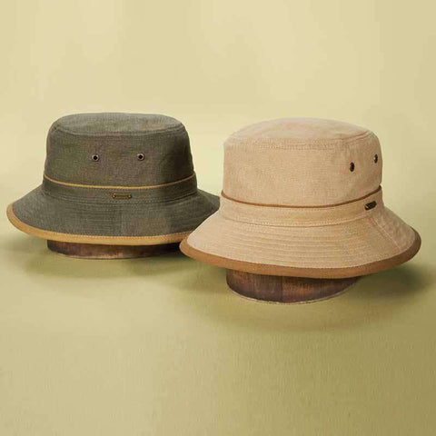 Stetson Oxford Bucket Hat with Contrast Trim