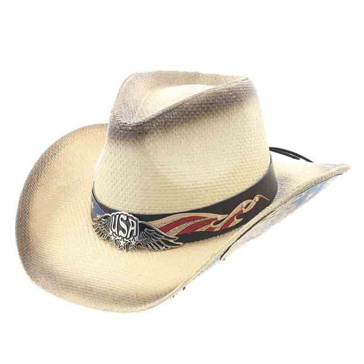 Flying Bold Eagle Under Brim USA Cowboy Hat - Milani Hats