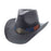 Black Straw Cowboy Hat with USA Flag Band - Milani Hats