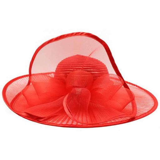Pleated Crinoline Brim Dress Hat - Something Special Collection