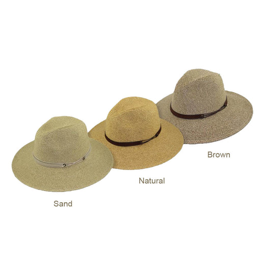 Mixed Tone Braid Safari Hat - Large and XL Sizes