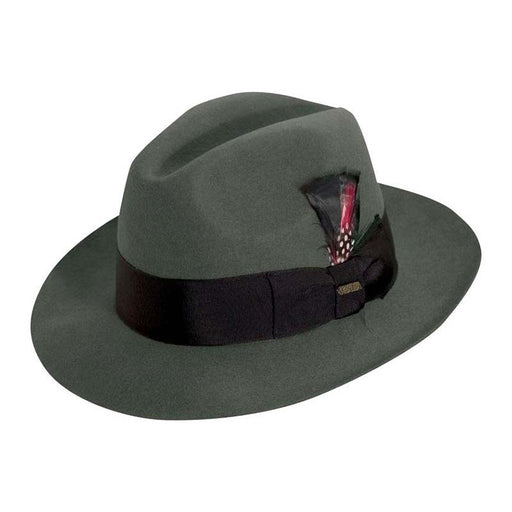 Scarsdale Structured Wool Felt Raw Edge Fedora up to 2XL - Scala Hats
