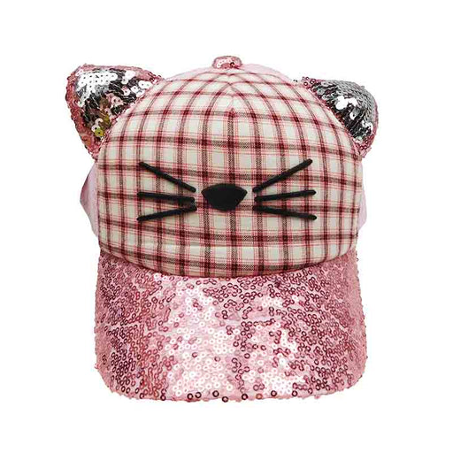 Sequin Kitty Baseball Cap for Girls by JSA Kids