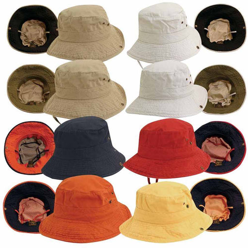 Side Snap Garment Washed Twill Boonie Hat - DPC Kids
