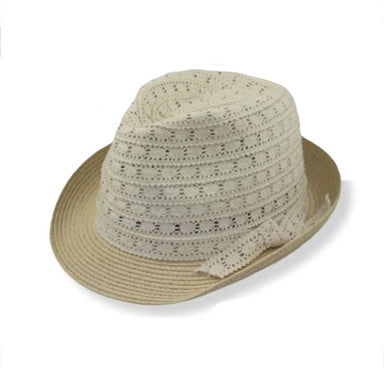 lace crown summer fedora hat for extra small head sizes. stylish petite women and girls fedora