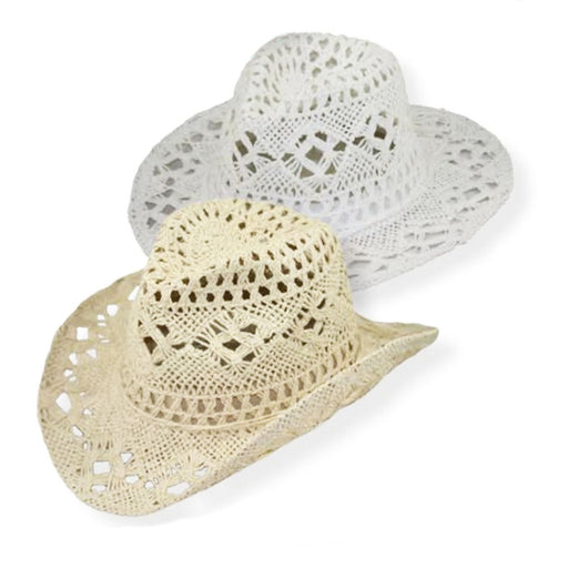Small Heads Open Weave Toyo Cowboy Hat - Jeanne Simmons Hats