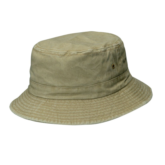 Small Heads Pigment Dyed Garment Washed Twill Bucket Hat - DPC