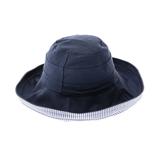 Small Heads Reversible Cotton & Seersucker Up Brim Hat - Boardwalk Style Hats