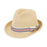 Small Heads Straw Fedora Hat with Striped Band - Sunny Dayz™