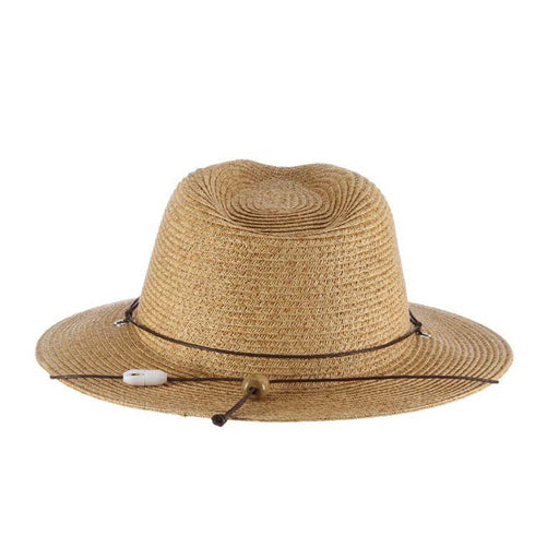 Small Heads Straw Safari Hat with Chin Cord - Scala Kid's