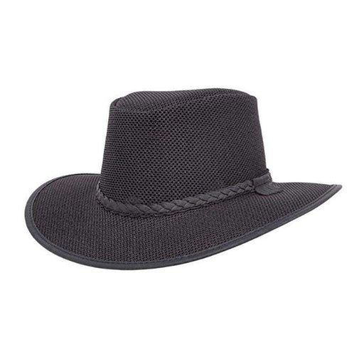 Head 'n Home SolAir: The Soaker Mesh Outback Hat up to 3XL - Black