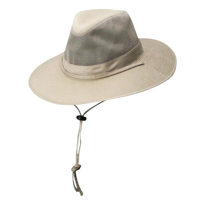 Solarweave® Mesh Crown Safari Hat, Oatmeal - DPC Outdoor Design