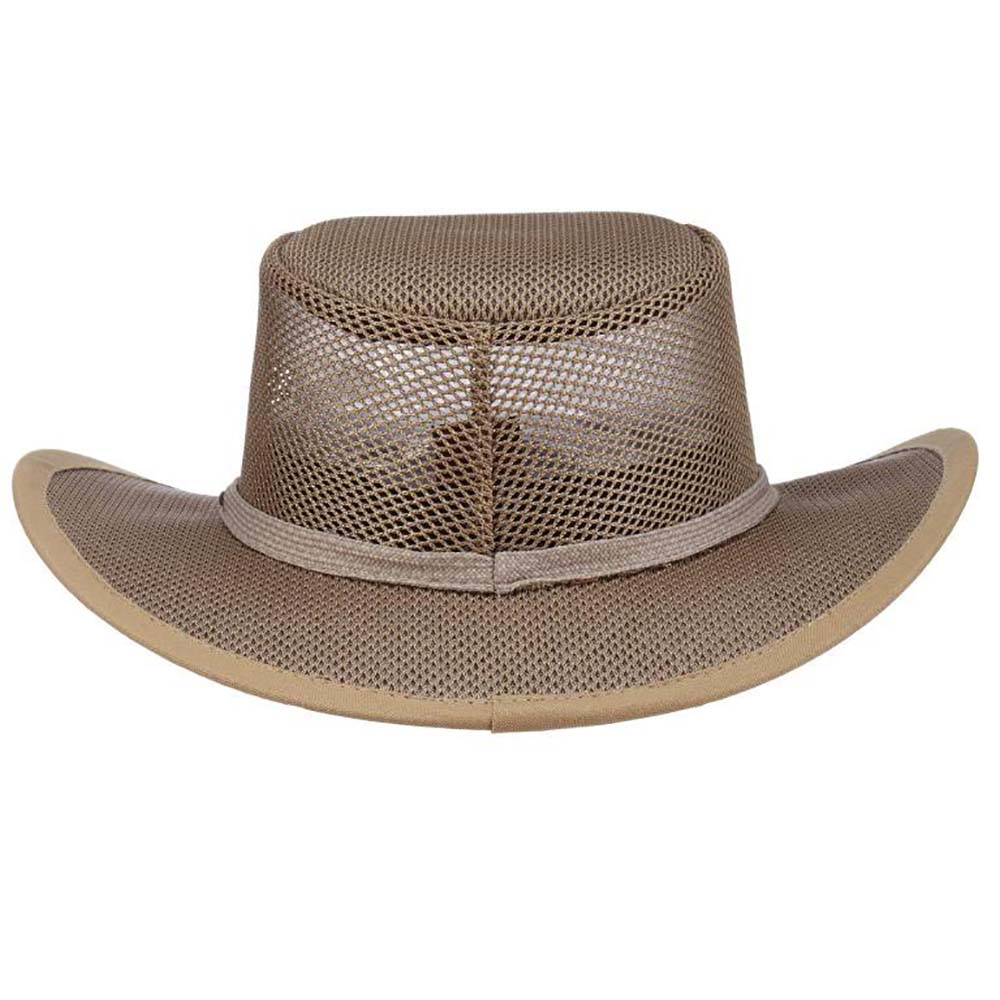 Stetson Mesh Outback Hat for Men up to XXL - Mushroom