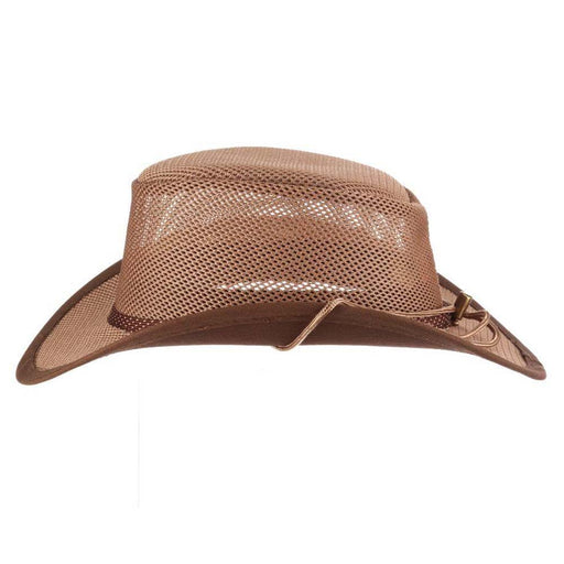 Stetson Mesh Outback Hat for Men up to XXL - Walnut