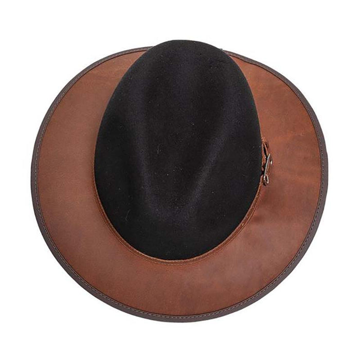Summit Safari Wool and Leather Hat, Coal - American Outback Wool Hat