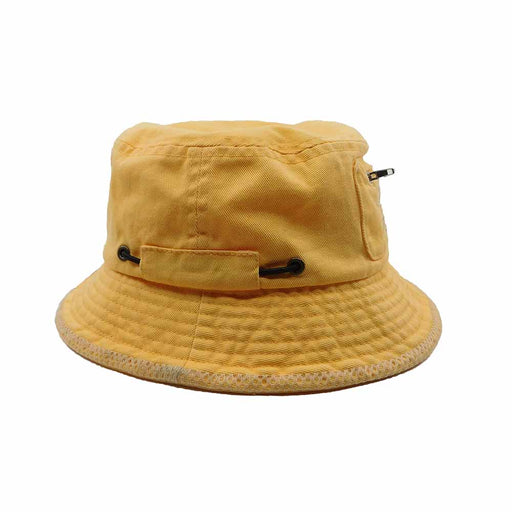 Surfers Club Yellow Bucket Hat with Pocket - DPC Kids