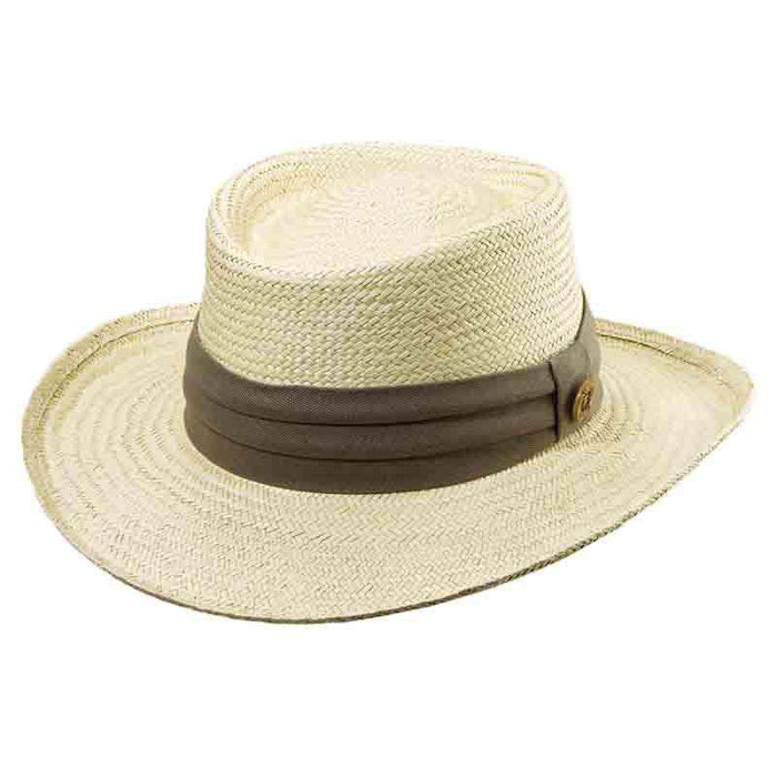 Tommy Bahama Palm Gambler Hat with 3-Pleat Cotton Band