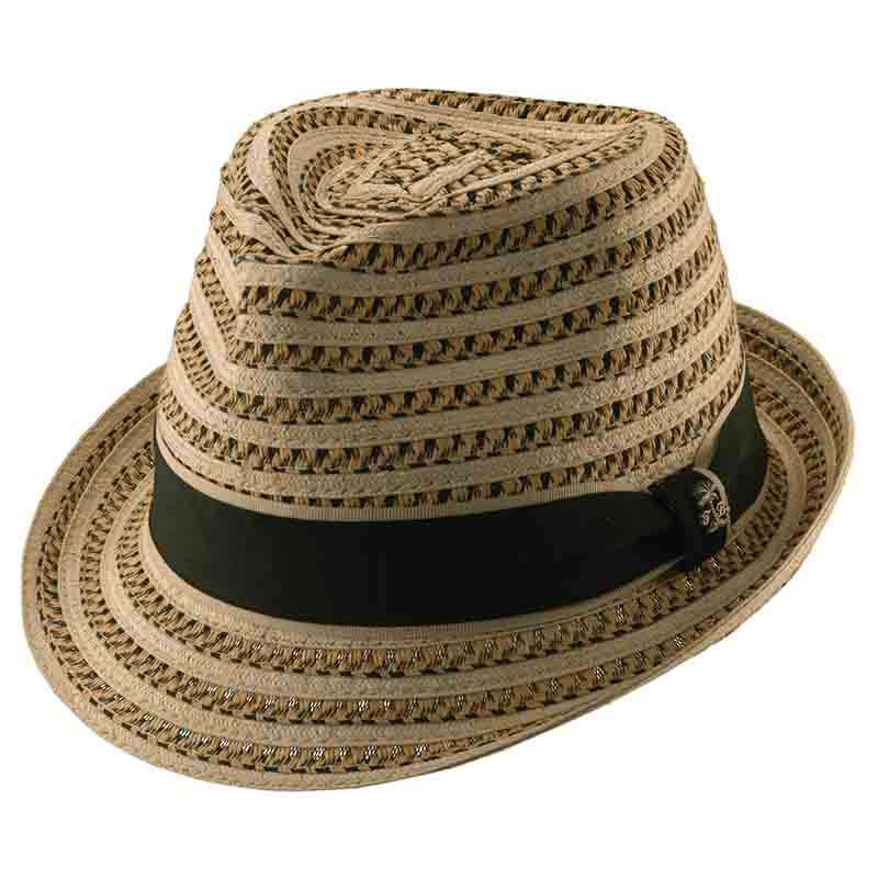 Tommy Bahama Vented Fedora with Palm Tree Pin